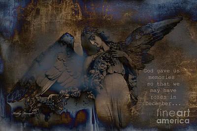 Surreal Digital Art Wall Art - Photograph - Angel Art Inspiration - Dreamy Surreal Fantasy Inspirational Angel Art by Kathy Fornal