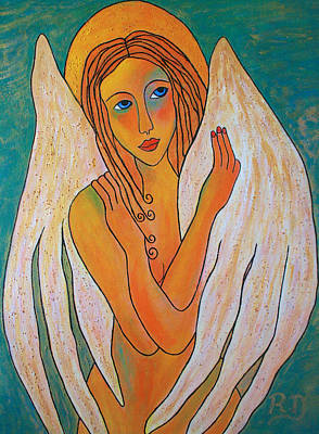 Painting - Angel-art by Renate Dartois