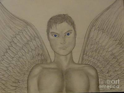Angel Blues Drawing - Angel Blues by Luisa  Zimerman