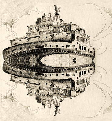 Angel Castle Art Print