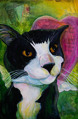 Painting - Angel Cat by Kerrie  Hubbard