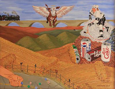 Angel Cow Art Print by Mike Nahorniak