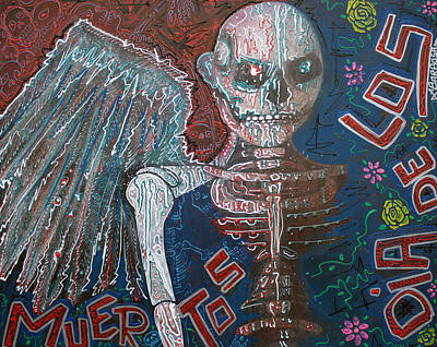 Folk Painting - Angel De Los Muertos by Laura Barbosa