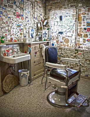 Photograph - Angel Delgadillo's Barber Shop by RicardMN Photography