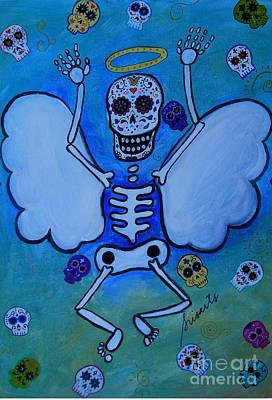 Painting - Angel Dia De Los Muertos by Pristine Cartera Turkus