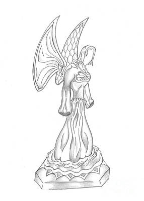 Angelic Drawing - Angel Drawing by Minding My  Visions by Adri and Ray