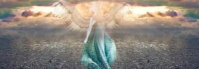 Angel Dream Art Print by Li   van Saathoff