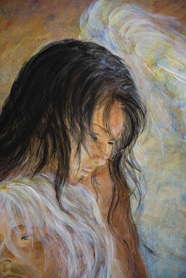 Painting - Angel Face by Nik Helbig