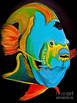 Painting - Angel Fish 2 by Saundra Myles