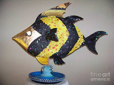 Sculpture - Angel Fish by Deborah Smith