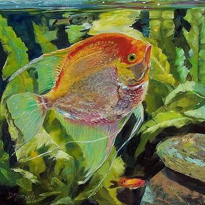 Painting - Angel Fish by Donna Munsch