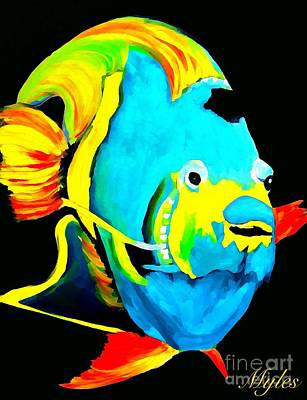 Painting - Angel Fish Impression by Saundra Myles