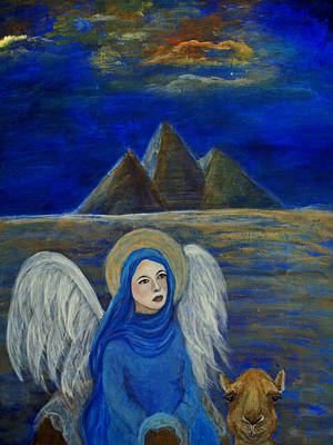Angel From Eygpt Called Lapis Lazueli Art Print by The Art With A Heart By Charlotte Phillips