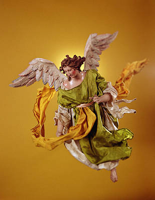 Angel, From The Christmas Creche And Tree Terracotta & Cloth Art Print by Neapolitan School