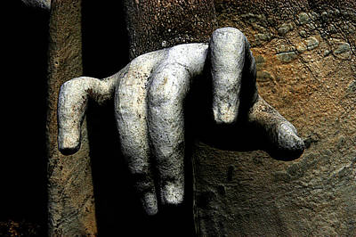 Angel Hand New Cathedral Cemetery Baltimore Maryland Art Print by John Hanou