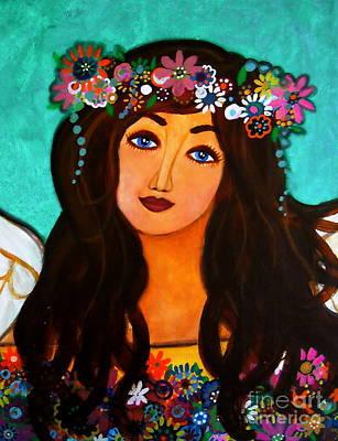 Painting - Angel In Bloom IIi by Pristine Cartera Turkus