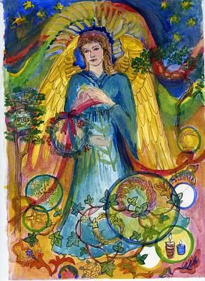 Angel In Blue Art Print