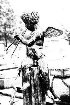 Cemeteries Of Paris Photograph - Angel In Montmartre by Georgia Fowler