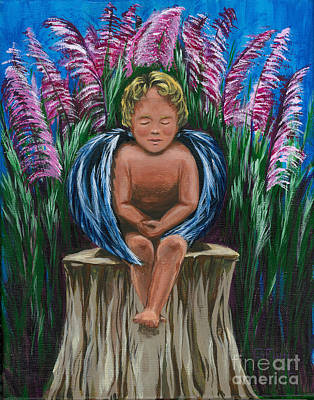 Painting - Angel In My Garden by Gail Finn