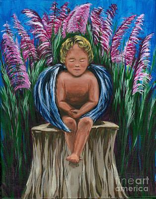 Painting - Angel In My Garden by Gail Finn