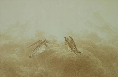 Caspar Painting - Angel In Prayer by Caspar David Friedrich