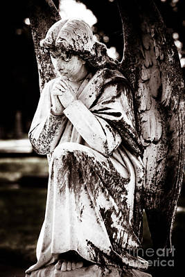 Angel In Prayer Art Print by Sonja Quintero