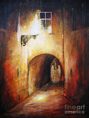 The Nature Center Painting - Angel In The Alley by Dariusz Orszulik