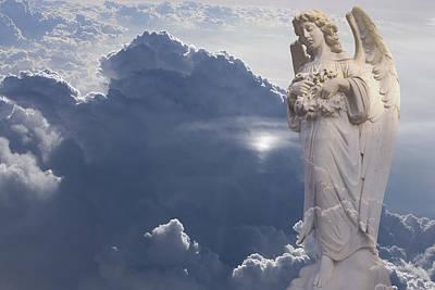 Angel In The Clouds Art Print by Jim Zuckerman