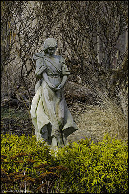 Photograph - Angel In The Garden by LeeAnn McLaneGoetz McLaneGoetzStudioLLCcom
