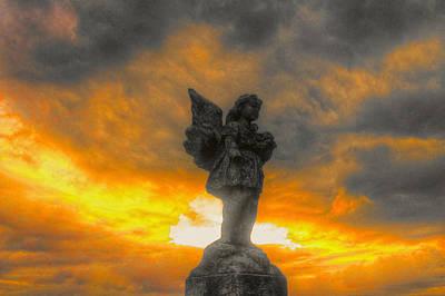 David Jones Photograph - Angel In The Sunset by David  Jones
