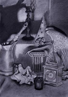 Still Life Drawing - Angel In Time by Carly Seyferth