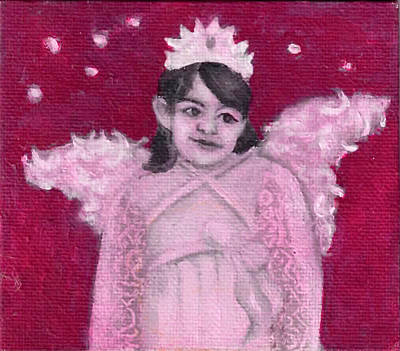 Painting - Angel In Training by Anne Cameron Cutri