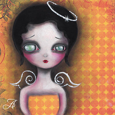 Pop Surrealism Painting - Angel In Yellow by  Abril Andrade Griffith