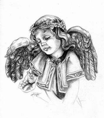 Drawing - Angel by Kathleen Kelly Thompson