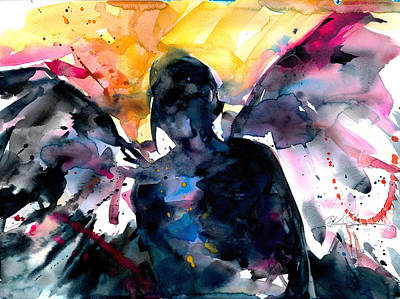 Abstract Graphics - Angel by Kathy Morton Stanion