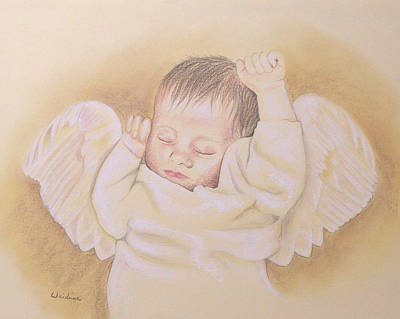 Drawing - Angel by Kathy Weidner