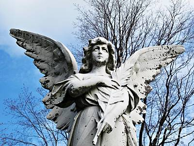 Photograph - Angel Looking Skyward by Ethna Gillespie