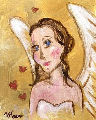 Angels Painting - Angel Love by Linda Mears