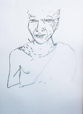 Drawing - Angel Madiba - Xhosa Prince by Gloria Ssali