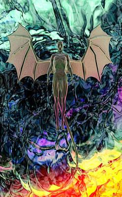 Art Print featuring the digital art Angel by Matt Lindley