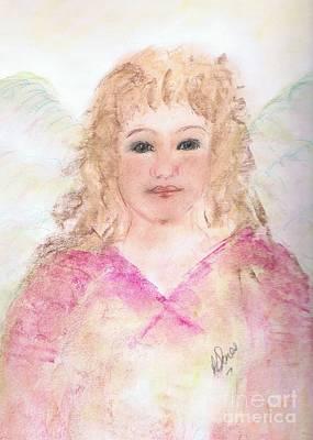 Uplifting Drawing - Angel Melissa by Karen Jane Jones