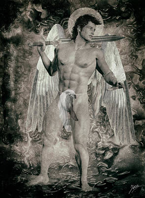 Anatomy Mixed Media - Angel Mercenary  by Quim Abella