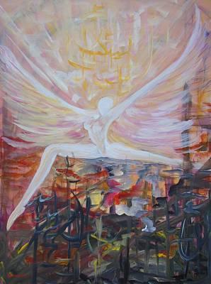 Phantasie Painting - Angel  by Merva  Steiner
