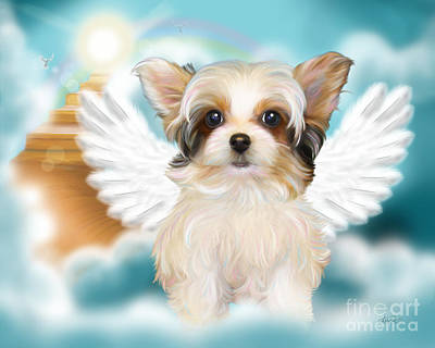 Mixed Media - Angel Mindy by Catia Cho