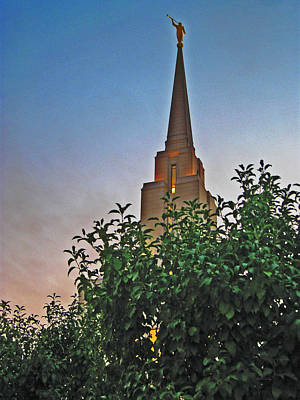 Photograph - Angel Moroni Of The Oquirrh Mountain Temple by VaLon Frandsen