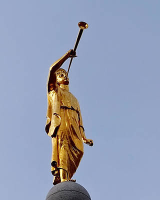 Lds Temple Photograph - Angel Moroni by Rona Black