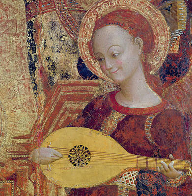 Guitar Angels Painting - Angel Musician by Sassetta