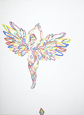 Heavenly Body Painting - Angel Nude by Stormm Bradshaw