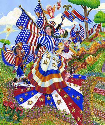 Angel Of American Patriotism Art Print by Jacquelin Vanderwood