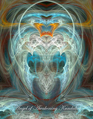 Digital Art - Angel Of Awakening Kundalini by Diana Haronis